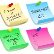 Sticky note options — Stock Vector