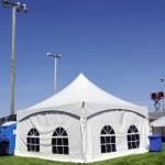 tenda branca na grama vertical — Foto Stock