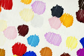 Ink blots on white paper — Stock Photo