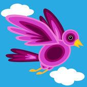 グラフィック形紫鳥 — ストックベクタ