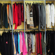 Racks with clothes — Stock Photo