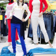 Plastic mannequins in clothes store — Stock Photo #5439014