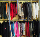 Racks with clothes — Photo