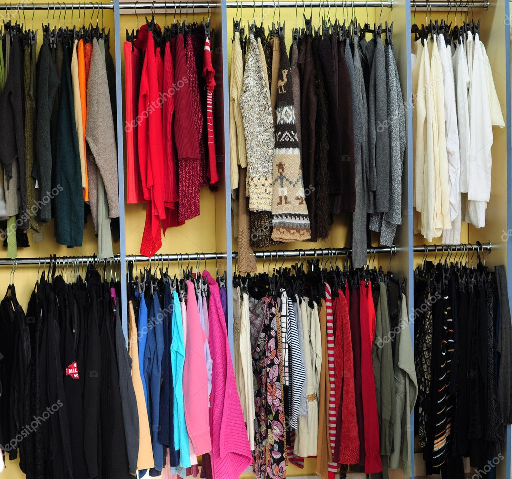 Racks with different clothes — Stock Photo #5439003