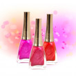 Set of nail polish - Foto Stock