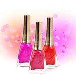 Set of nail polish — Stock Photo