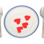 Romantic diner set — Stock Photo