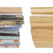 Vintage books on a pile in different angles — Stock Photo #6220650