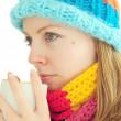 Stock Photo: Winter girl with cup
