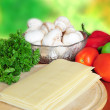 Lasagna ingredients — Stock Photo