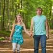 Children walking together - Stock Photo