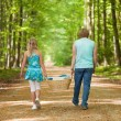 Children walking together — Stock Photo