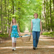 Two teenagers going to picnic — Stock Photo #5610719