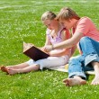 Two teenagers at picnic — Stock Photo