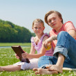 Two teenagers having picnic — Stock Photo