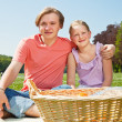 Two teenagers at picnic — Stock Photo #5908960