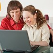 Mom and daughter with laptop — Stock Photo #5908979