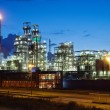 Industrial twilight - Stock Photo