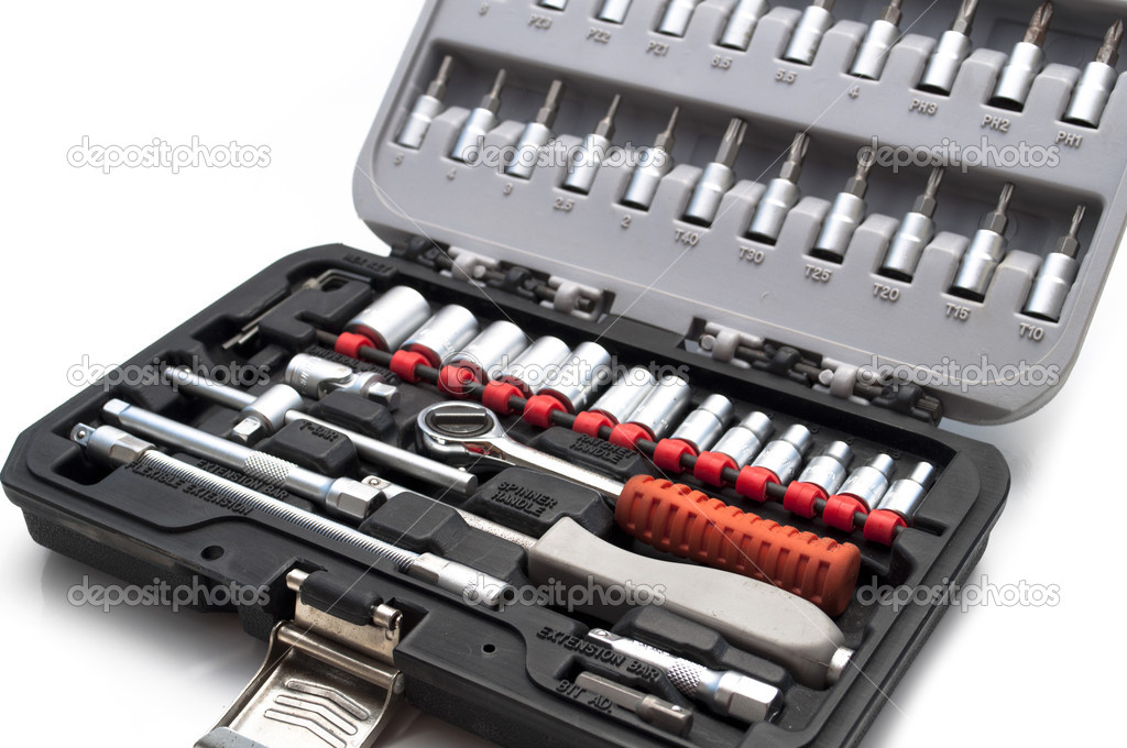 Toolkit of various tools in the box — Stock Photo #5697784