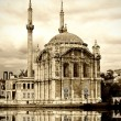 Ortakoy mosque at Bosphorus - Stock Photo