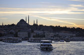 Suleymaniye mosque Golden Horn — Stock Photo