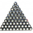 Pyramid from cell — Stock Photo