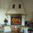 Traditional fireplace — Stock Photo