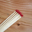 Stock Photo: Six matches