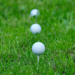Stock Photo: White golf balls