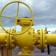 Royalty-Free Stock Photo: Yellow pipes and valve
