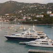 Luxury Yachts in St. Thomas Bay - Foto Stock
