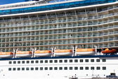 Lifeboats Between Balconies and Portholes — Stock Photo