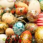 Colored Custom Easter Eggs — Stock Photo #5645610