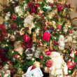 Many Gifts Under Custom Decorated Tree — Stock Photo
