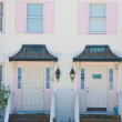 Stock Photo: Two Pink Stucco Condos