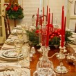 Formal Dining Table Set for Christmas — Stock Photo