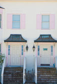Two Pink Stucco Condos — Stock Photo
