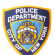 New York City Police Patch on White — Stock Photo