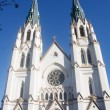 Twin Steeples on White Churc — Foto Stock
