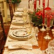 Festive Formal Table Set for Christmas — Stock Photo