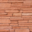 Red Stone Wall for Background - Stock Photo