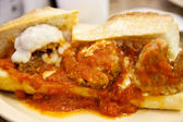 Meatball Sub Sandwich — Stock Photo