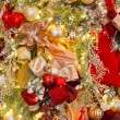 Stock Photo: Bold Colored Christmas Decorations on Tree