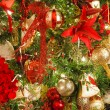 Red and Gold Christmas Decorations on a Home Tree — Stock Photo