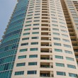 Condo Towers with Balconies from Ground - Stock Photo