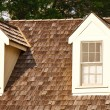 Stock Photo: Two Dormers on Wood Shaker Roof