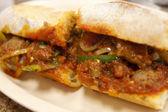 Meatball and Sausage Sandwich — Stock Photo