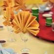 Stock Photo: Banquet wedding table setting