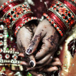 Henna Hands — Stock Photo