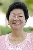 Asian senior woman — Stock Photo